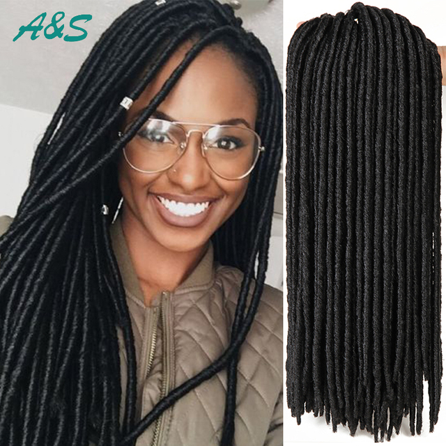 Long faux locs braiding hair dreadlock crochet braids havana mambo ...