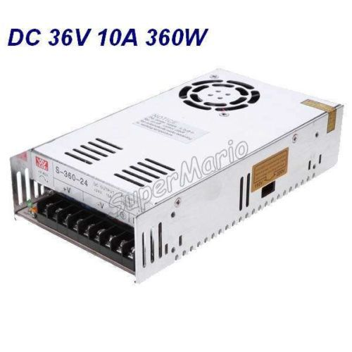 цена New MW High Quality 36V 10A 360W AC to DC Regulated Single Output Switching Power Supply CNC (CNC-37)