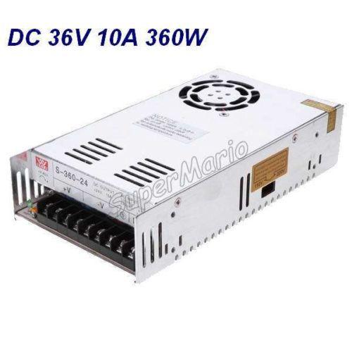 все цены на New MW High Quality 36V 10A 360W AC to DC Regulated Single Output Switching Power Supply CNC (CNC-37) онлайн