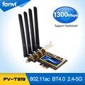 Adaptador Wi-fi BCM94360CD 802.11AC 1300 Mbps Broadcom Gigabit Ethernet PCI-E PCI Express WiFi + Bluetooth BT 4.0 com 4 * 6dBi Antena