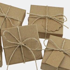 Image 5 - Cuerda de cáñamo Natural para colgar etiquetas, cuerda tejida para decoración del hogar, cordel de yute, cordón de jardinería, manualidad para regalo, 100m por rollo