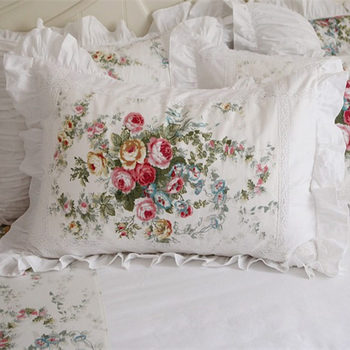 2pcs Handmade Embroidered Ruffle Lace Pillowcase - No Filler Best Children's Lighting & Home Decor Online Store