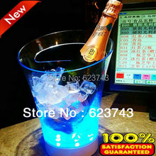 Free Shipping plastic led ice bucket,color changing bucket, luminous pail cooler,glow Beer cask,wine barrel