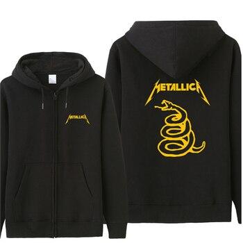 Classic Heavy Metal Metallica Autumn Man Hoodie Casual Loose Cool Men Hoodies Sweatshirt Tracksuit Gift For Fans Coat ST-023 Классический костюм