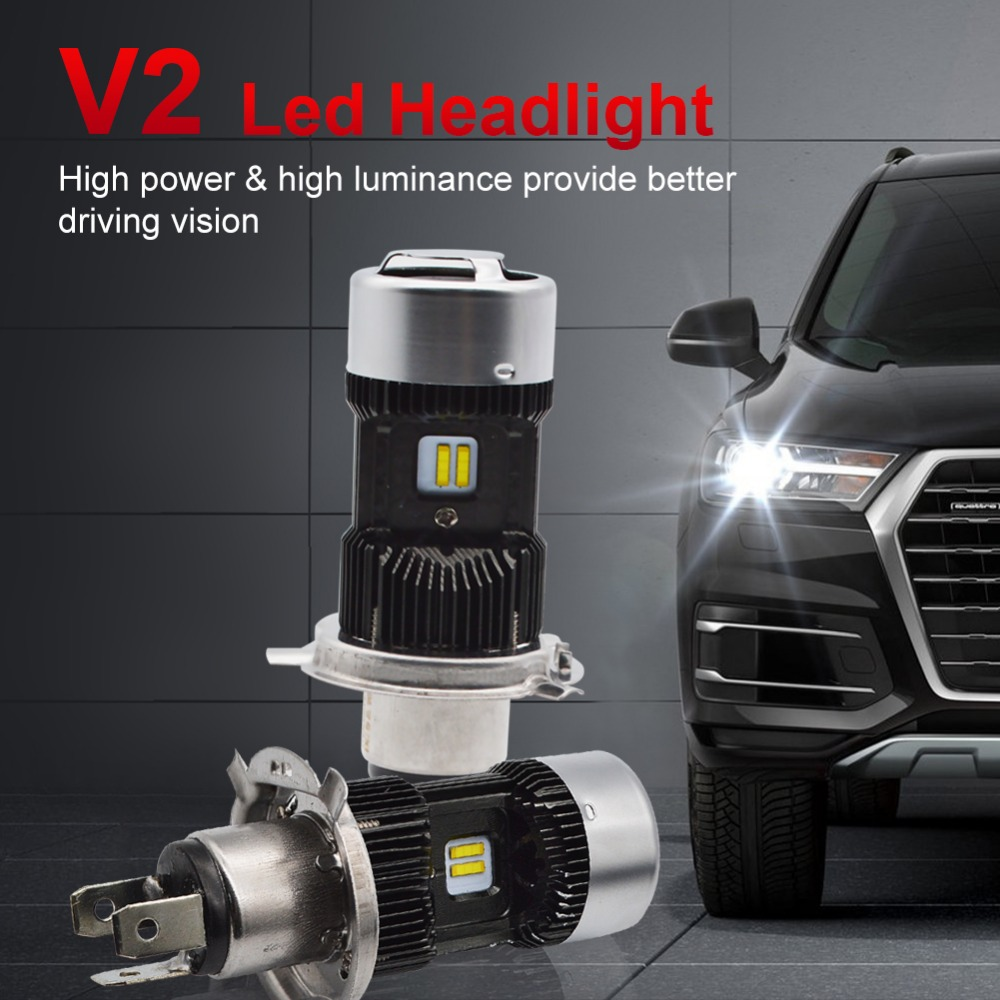 Image 4 - Safego 1pcs H4 LED Motorcycle Headlight Bulbs Hi Lo 3000LM 6000K 30W Led Moto Motorbike Headlamp Lighting Electric Car Lights