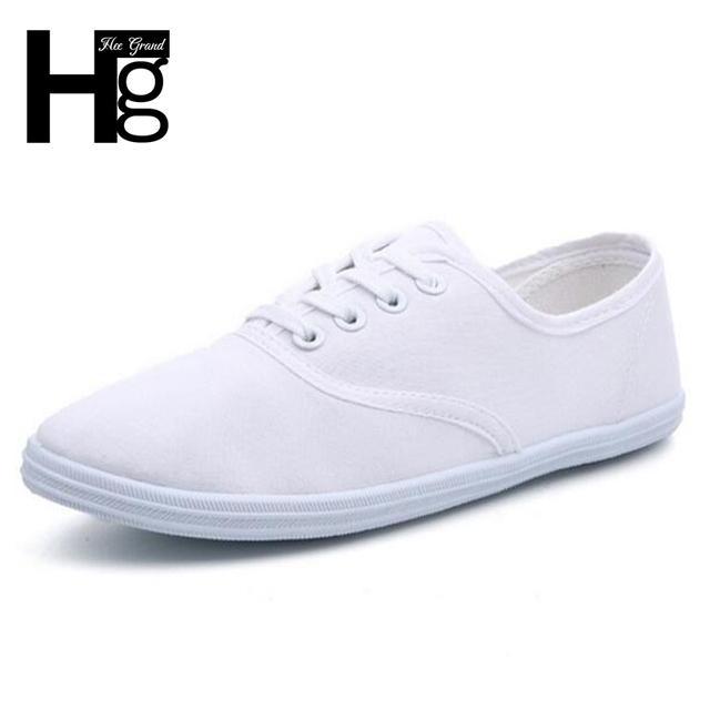 Hee grand plus tamaño 35 ~ 42 colores del caramelo de las mujeres zapatos casuales alta Calidad de la Lona Shallow Slip-on Zapatos Planos Suaves para La Mujer XWF199