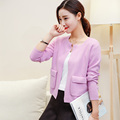 Women Cardigans Open Stitch Cashmere Knitted Sweaters Fashion Jackets Spring New Fashion Short Tops Standard Clothes Shirts
