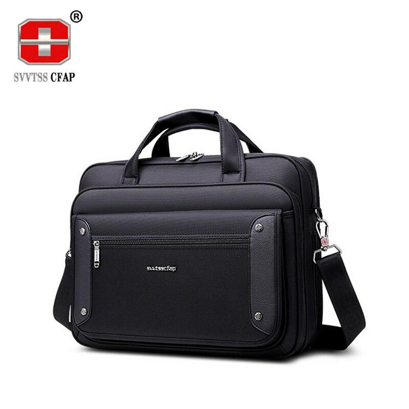 Bolsos de negocios de alta calidad de marca de hombre bolsa de maletín comercial de gran capacidad para ordenador portátil bolso de hombro de hombre grandes-in Carteras from Maletas y bolsas    1