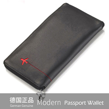 Modern- Luxury Brand New 100% Cow Genuine Leather Men Wallets Travel Passport Cover Wallet Card Holder Organizer Famous Designer