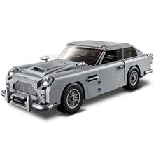 1295pcsNew Expert James Bond Aston Martin DB5 Compatible Legoing 10262 Creator Model Building Blocks Bricks Boys'Toys Gifts