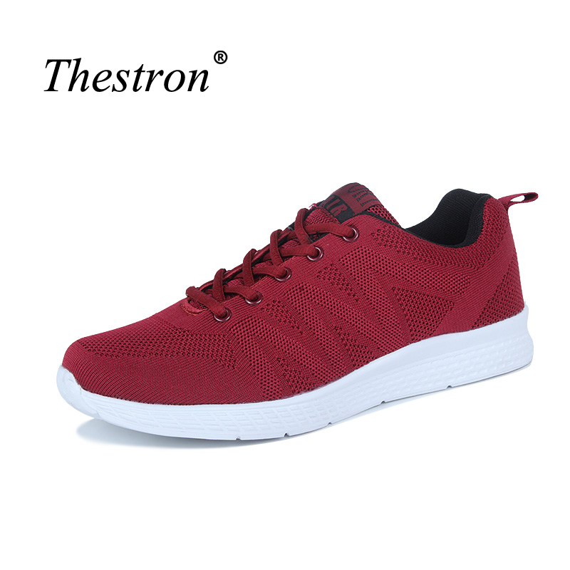 Thestron Men Sneakers Running Comfortable Runners Mans Light Weight Male Sport Shoes New Arrival Running Sneaker Man