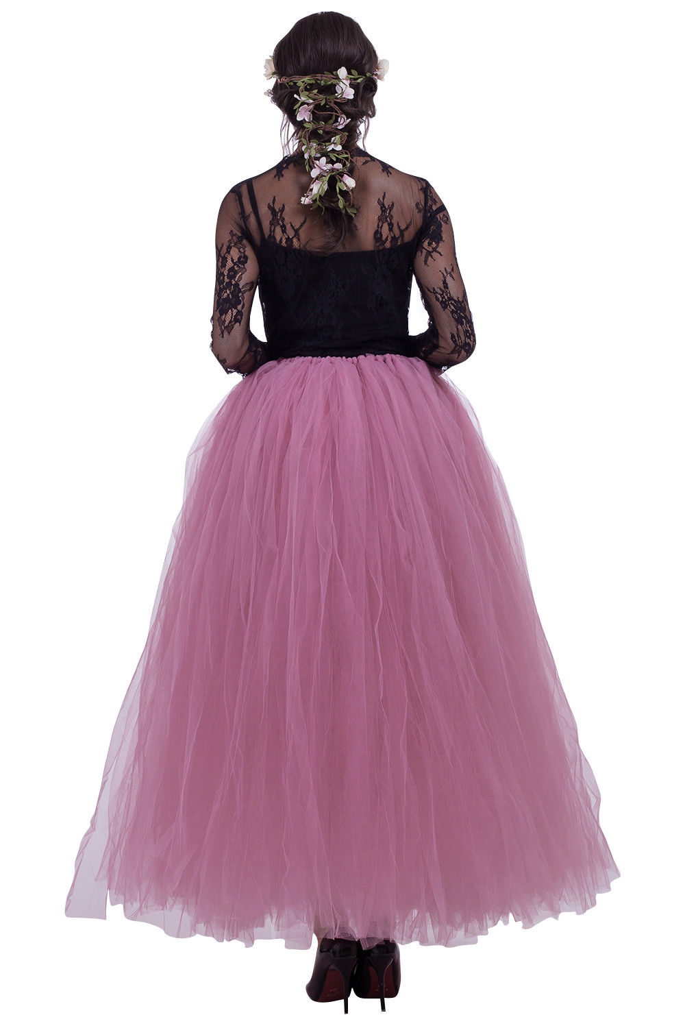 Summer Tulle Skirts Layers Women Long Maxi Skirt Ball Gown Mesh Adult Tutu Skirt Princess Ballet Dancewear Party Costume in Skirts from Women 39 s Clothing
