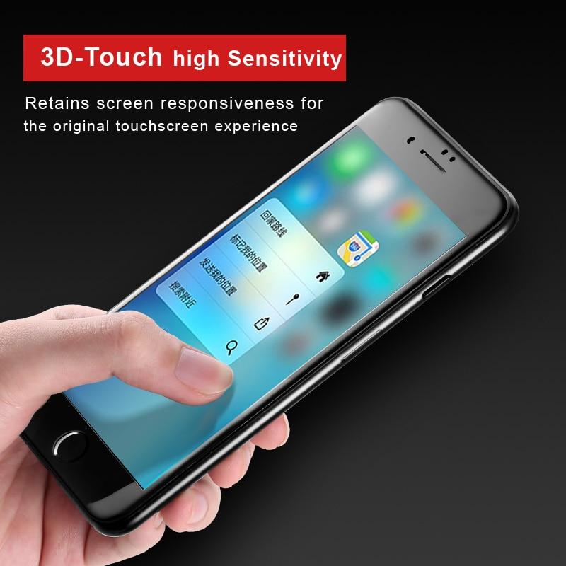 IPhone 7/7 plus Vpower Tempered Glass ekran qoruyucu Ultra İncə 3D - Cib telefonu aksesuarları və hissələri - Fotoqrafiya 4