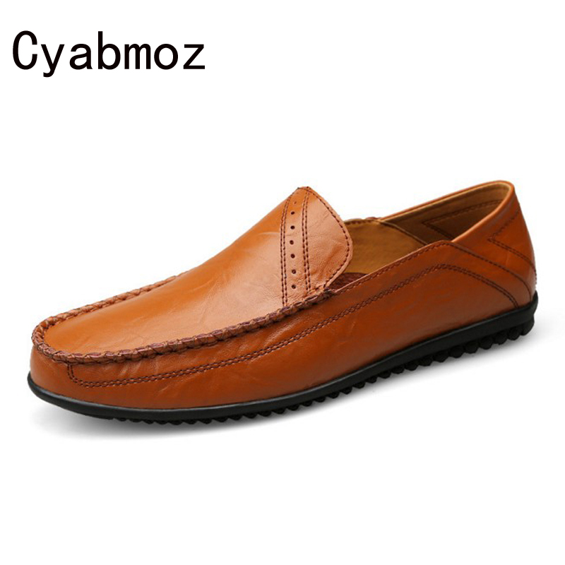 2017 New Arrival Soft Comfortable Genuine Leather Fashion Mens Casual Shoes Driving Moccasins Slip On Loafers Male Flats Oxfords 2017 autumn fashion men pu shoes slip on black shoes casual loafers mens moccasins soft shoes male walking flats pu footwear