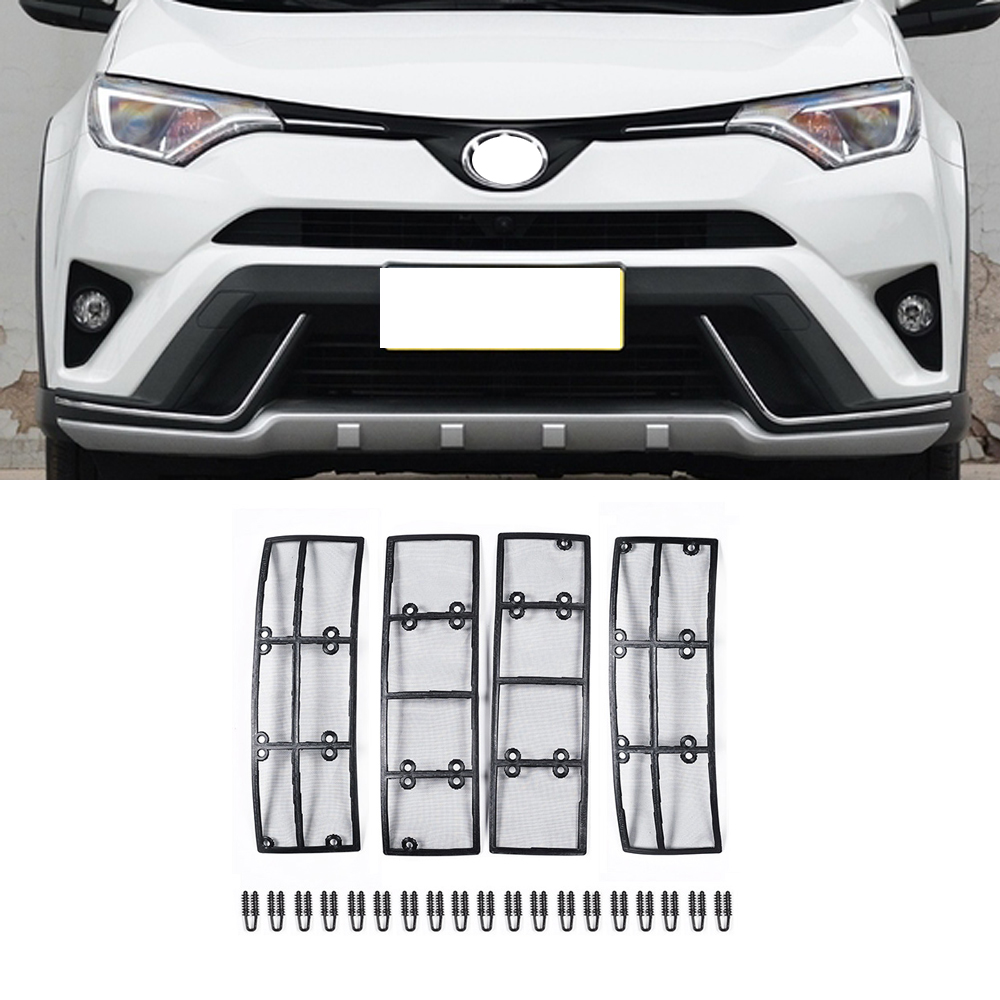 Car STAINLESS STEEL Front Grill Guard Grille Insect Screen For Toyota RAV4 2016 2017 2018 Accessories цена 2017