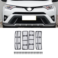 Car STAINLESS STEEL Front Grill Guard Grille Insect Screen For Toyota RAV4 2016 2017 2018 Accessories