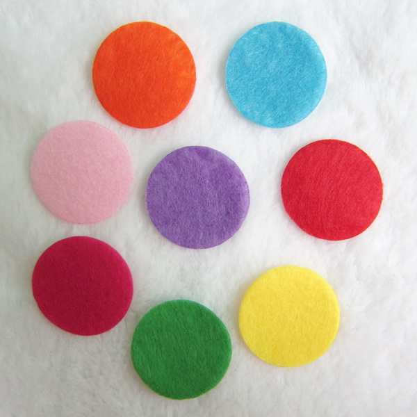20pcs/ lot 20mm round felt pad for taking essential oil on the diffuser locket necklace jewelry