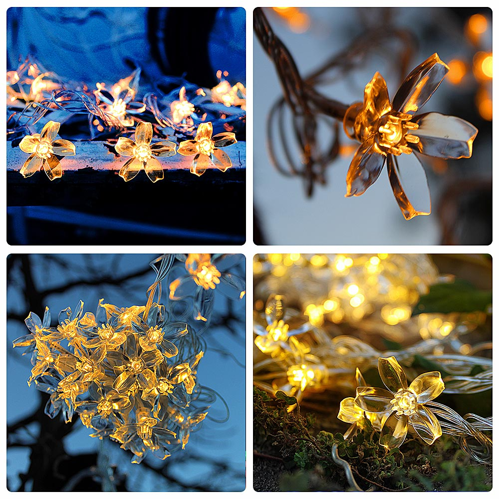 5M 40LEDs USB Holiday Garland Fairy Lights Outdoor Waterproof Garden Christmas Floral Decoration String Lights LED Wedding Light