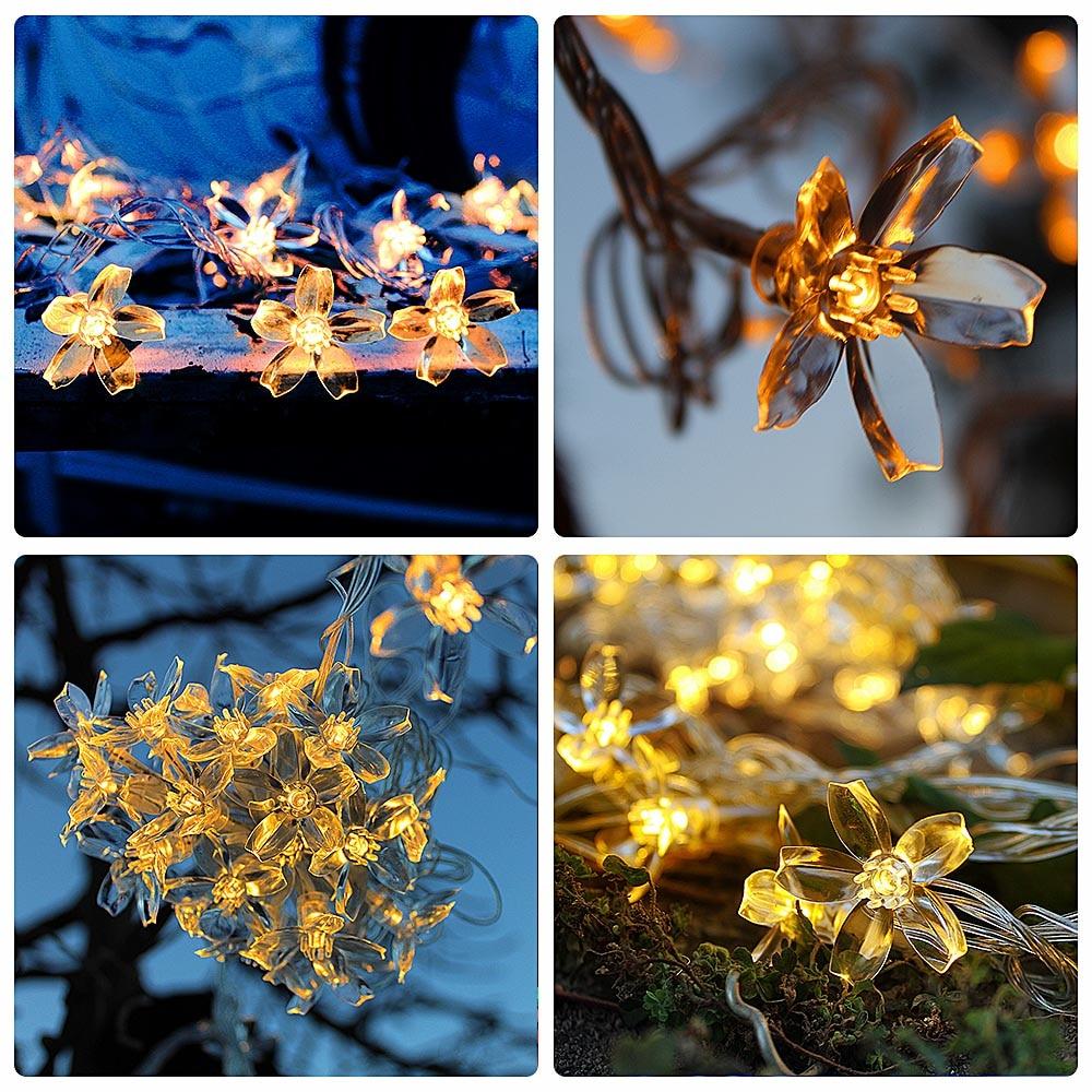 5M 40LEDs USB Holiday Garland Fairy Lights Outdoor Waterproof Garden Christmas Floral Decoration String Lights LED Wedding Light