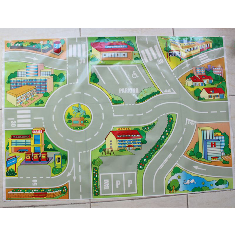 Online Shop Lovely Mini Car Maps Thomas Train Traffic Map For Car