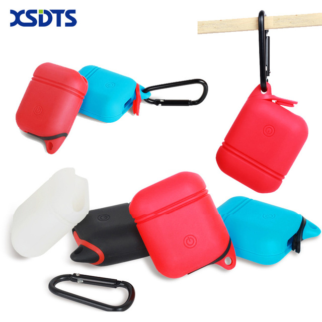 reputable site cd1a3 c7f83 US $4.99 |XSDTS For Apple Airpods Silicone Case Sleeve For AirPods Earphone  Case Charging Cases Cover Free Lanyard With Dust Plug-in Phone Pouch from  ...