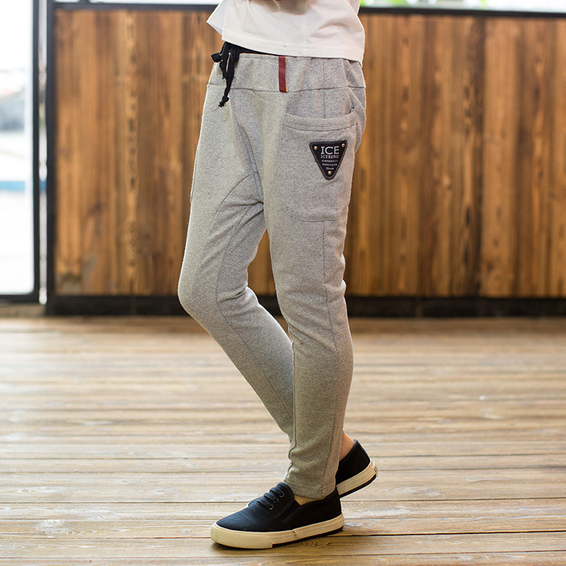 8f8fb270 € 14.41  2016 corea nueva moda para niños pantalones deportivos resorte  muchachos grandes versión pantalón, ropa de niños ropa infantil alta ...