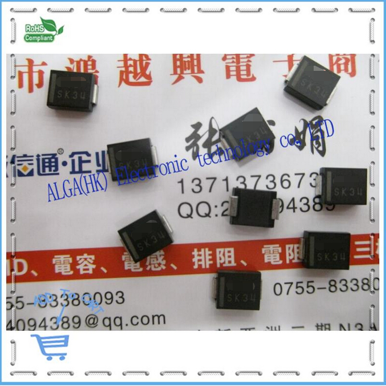 SK34 SS34 1N5822 patch Schottky diode DO 214AA 3A 40V SMB