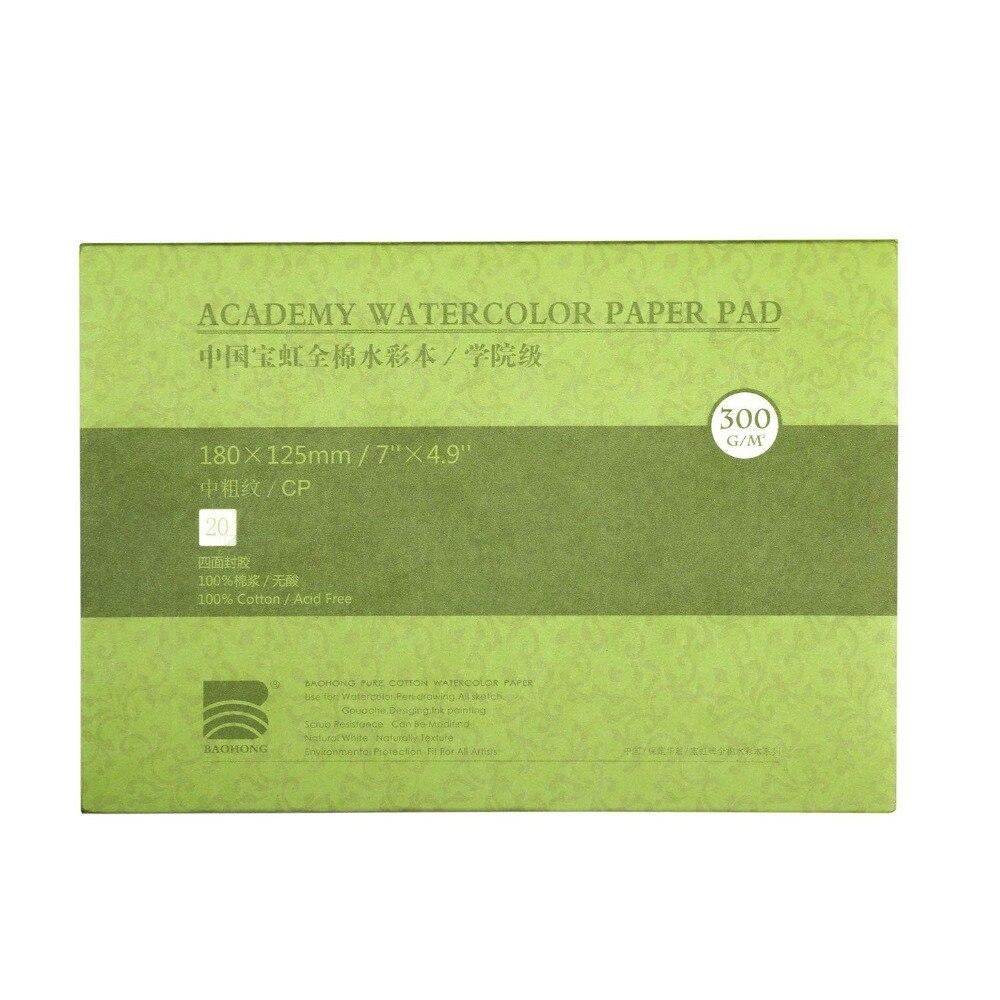 De algodón profesional de papel de acuarela de textura/superficie suave acuarela almohadilla 140lb/300gsm 20 hojas de arte suministros
