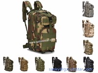 Double Shoulder Hiking Camping Bag 3P Assault Backpack Large Capacity 24L Army Military Tactical Trekking Rucksack