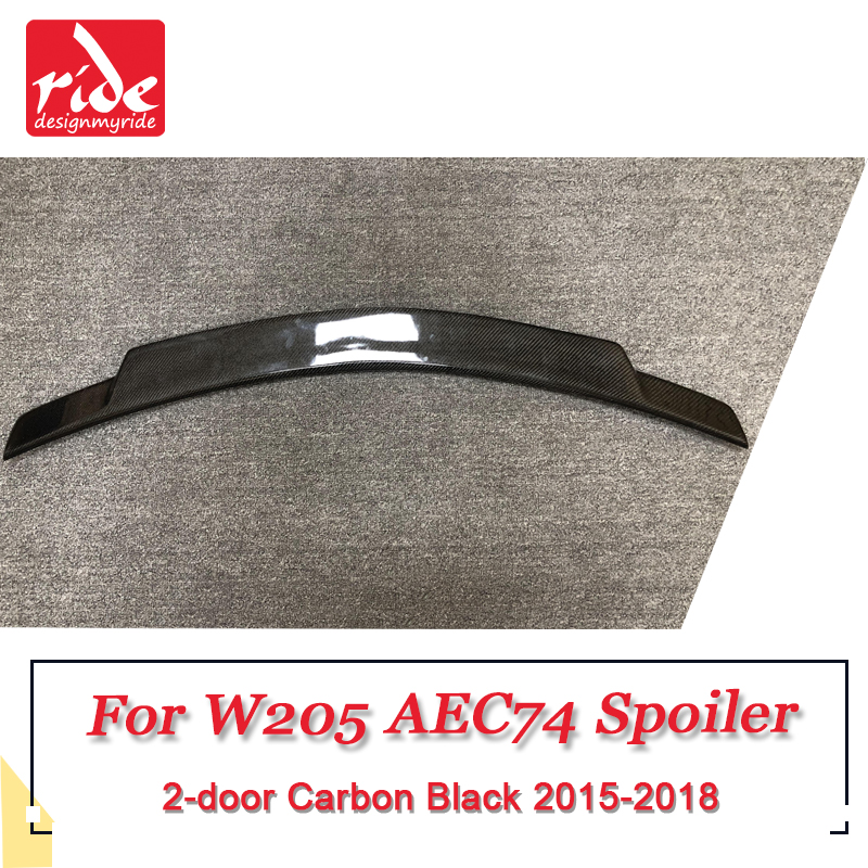 For Mercedes W205 C Class C74 Style Carbon Fiber CF Trunk Spoiler Wing Sporty Extended High Kick Duckbill Version Wing 2015 2018 in Spoilers Wings from Automobiles Motorcycles
