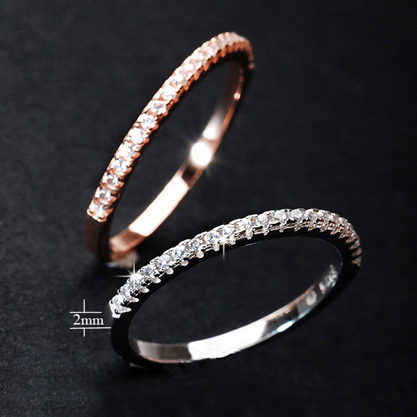 USTAR Zirconia crystals Wedding Rings for women Jewelry Silver color midi rings female anel bijoux top quality