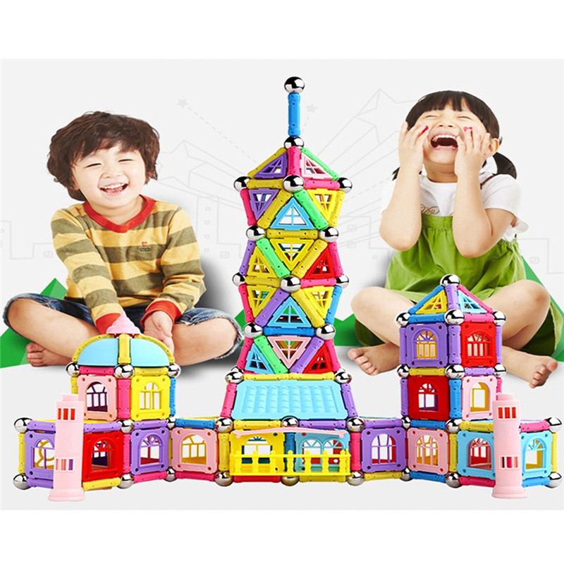 84/37/103 шт. магнитные детей игрушки палочки строительные блоки комплект Развивающие игрушки для детей магниты Рождественский подарок на день... ...