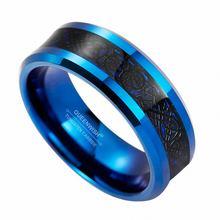 Мужское кольцо из карбида вольфрама с инкрустацией кельтского