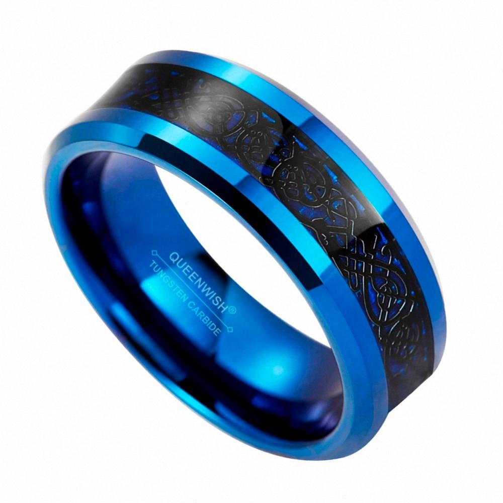 New Size 6-13 Black Fashion Titanium Wedding Band Celtic Dragon Men/'s Rings