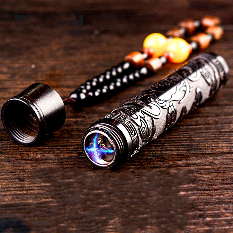 Newest Wood Electronic Cigarette Lighter Chinese Style Double Arc Lighter Heating Wire Carving Electric USB Lighters aansteker