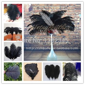 70-75cm 28-30 inches black ostrich feather ostrich plumes ostrich plumage 10pcs/lot wedding centerpieces