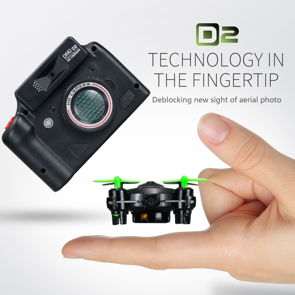 DHD D2 3.7 v 120 mah 6-Axis Mini Drone W/2.0MP Cámara Luz Intermitente Dron RC H