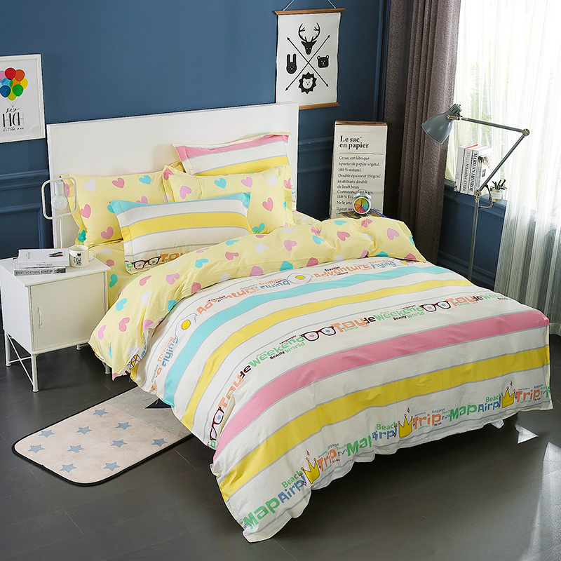 Image 5 - Wongsbedding 100% Cotton Stripe Duvet Cover Sets Quality Bedding Set Twin Full Queen King Size 3/4PCS Sheet Beddings-in Bedding Sets from Home & Garden