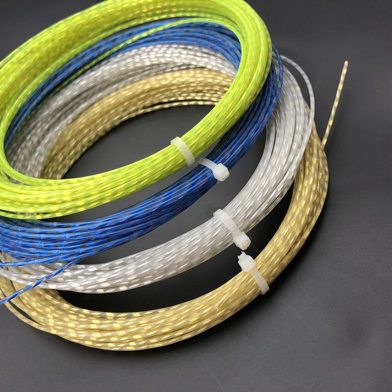 Free Shipping Retail 1pc ZARSIA Flash Nylon Tennis String 1.30mm MULTIFILAMEN Tennis Rackets String