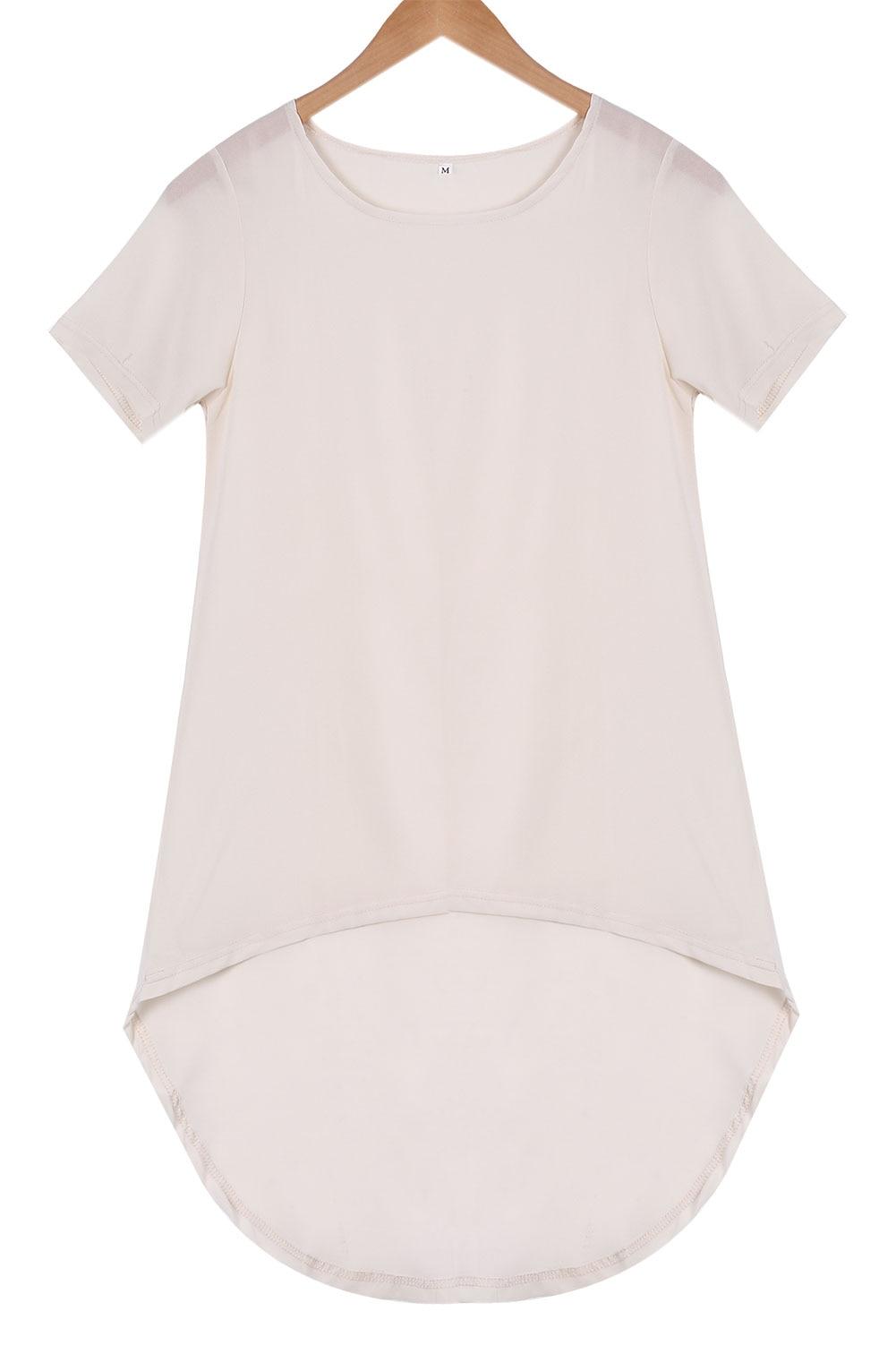 Plus Size women summer shirt Fashion Womens Loose Chiffon Tops Short Sleeve shirts Casual Blouse 6