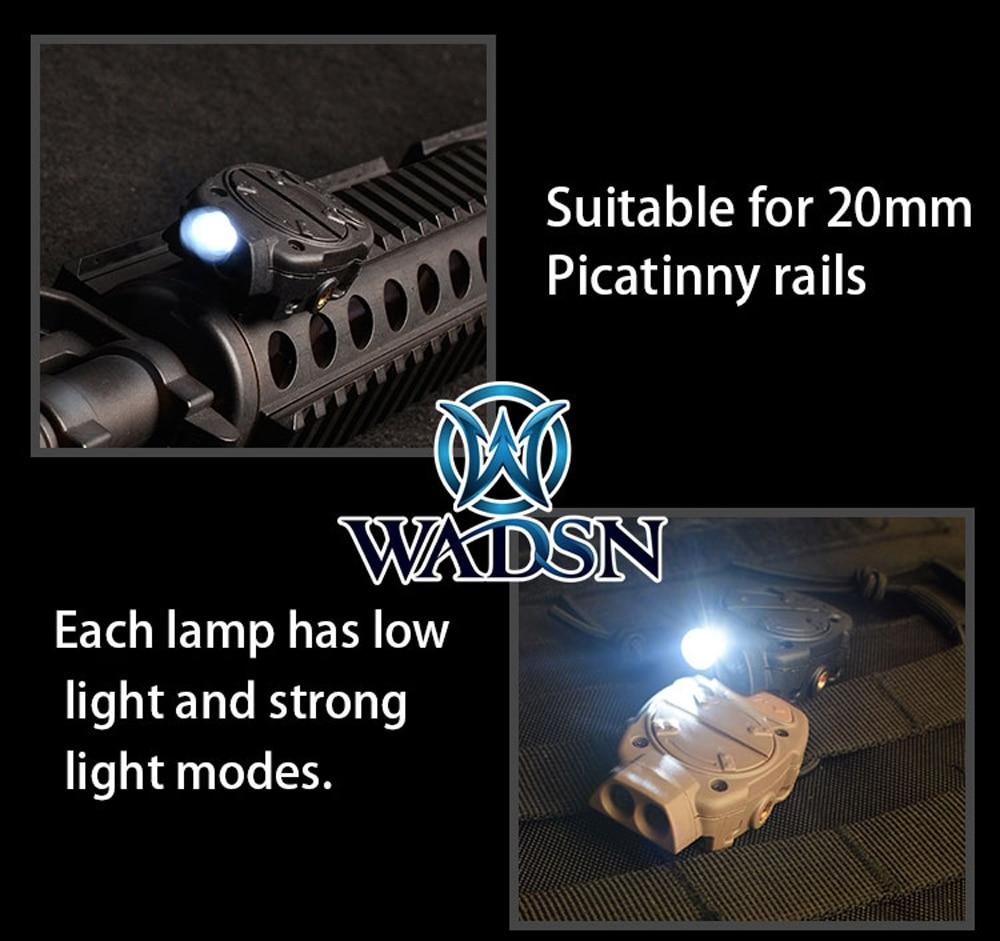 wadsn princeton capacete tatico luz para picatinny 04