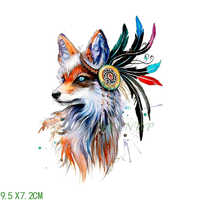 Waterproof Temporary Tattoo Sticker on body fox wolf dog Dreamcatcher tatto stickers flash tatoo fake tattoos for men girl women