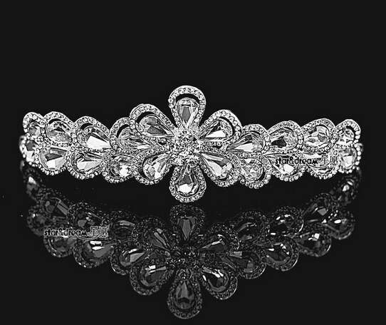 Venta barata 2016 1 unids/lote Hairband de la boda diadema nupcial Princess impresionante boda