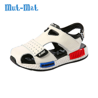 2017 Genuine Leather Male Child Toe Cap Covering Sandals Child Sandals Cowhide Children Baby Toddler Shoes