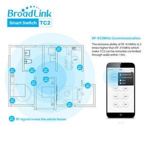 Image 3 - Broadlink TC2 האירופי WiFi מתג מגע פנל בריטניה האיחוד האירופי סטנדרטי קיר אור מתג APP שליטה על ידי IOS אנדרואיד טלפון חכם בית אוטומציה