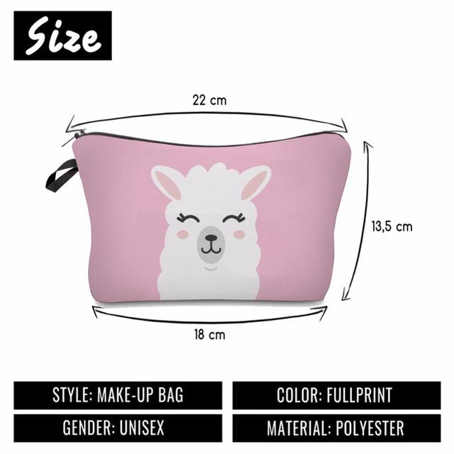 Happy Llama Cosmetic Bag