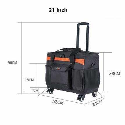 LeTrend черный водонепроницаемый Оксфорд сумки на колёсиках Spinner для мужчин большой Многофункциональный чемодан колеса инструментарий галстук toolbox тележка