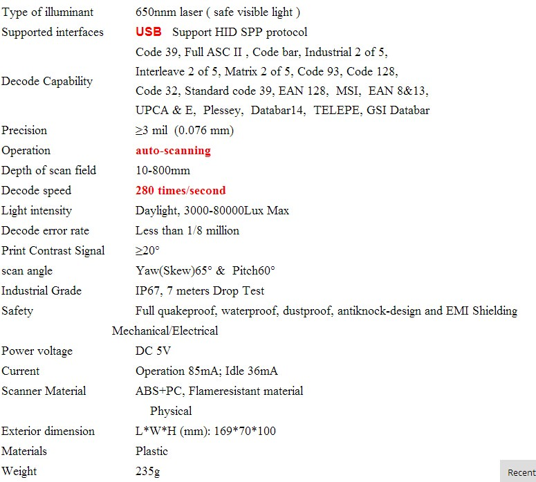 JP-W1AT Frete Grátis! 32bit indução auto scanner