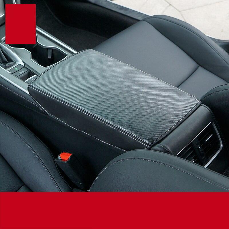 lsrtw2017 carbon fiber compose leather car armrest cover for honda accord 2018 2019 2020