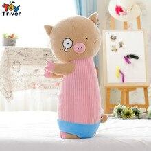2016 hot new cute standing polo pig stuffed plush toy doll baby girl boy birthday gift free shipping creative cartoon